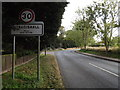 TL7452 : B1063 The Street & Stradishall Village Name sign by Adrian Cable