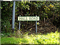 TL7449 : Hall Road sign by Adrian Cable