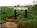 TL7349 : Mill Road sign by Geographer