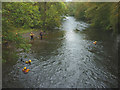NY3603 : Rescue practice in the River Brathay by Karl and Ali