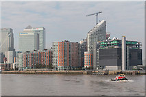 TQ3880 : Canary Wharf as seen from The River Thames by Christine Matthews