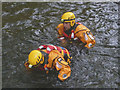 NY3603 : Rescue practice in the River Brathay (2) by Karl and Ali