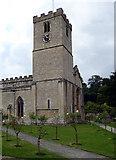 SP1106 : St Mary The Virgin Church Tower Bibury by Roger Gittins