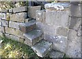 NZ9405 : Stone stile, Old St Stephen's Church by Christopher Hall