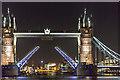 TQ3380 : Tower Bridge opening by Christine Matthews