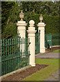 SK7282 : Gateposts at Welham Hall by Alan Murray-Rust