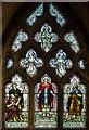 TF0170 : Stained glass window, St John's church, Washingborough by Julian P Guffogg