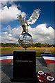 SK1814 : National Memorial Arboretum - Royal Air Forces Association Memorial (detail 1) by Mike Searle