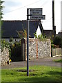 TL7348 : Roadsign on North Street by Adrian Cable