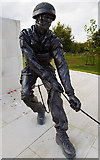SK1814 : National Memorial Arboretum - Parachute Regiment and Airborne Forces Memorial (detail) by Mike Searle