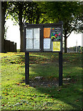TL7348 : Hundon Village Notice Board by Adrian Cable