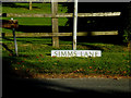 TL7246 : Simms Lane sign by Adrian Cable