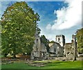 SP3211 : Minster Lovell - Old Hall and St Kenelm by Rob Farrow