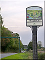 SK7282 : Boundary sign between Clarborough and Welham by Alan Murray-Rust