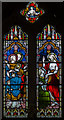 TF0170 : Stained glass window, St John the Evangelist church, Washingborough by Julian P Guffogg