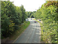 SP0266 : South on Windmill Drive from Birchfield Road overbridge, Headless Cross, Redditch by Robin Stott