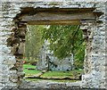 SP3211 : Minster Lovell - West Wing through old window by Rob Farrow