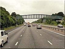 SU6350 : Footbridge over M3 Southbound by David Dixon