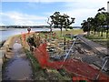 SX9685 : Construction site south-east  of Turf Locks by David Smith