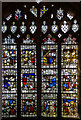 SO7745 : Medieval stained glass window, Great Malvern Priory by Julian P Guffogg