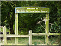 TM0856 : Fen Alder Carr Nature Reserve sign by Adrian Cable