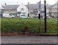 SO5711 : Ordnance Survey cut mark stone alongside Staunton Road, Coleford by Jaggery