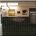 SP0687 : Commemorative plaques and a sign, Snow Hill Station, Birmingham by Robin Stott