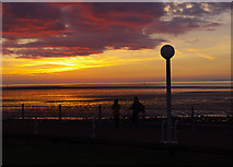 SD4264 : Sunset from Midland Hotel, Morecambe by Ian Taylor