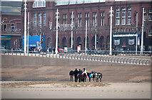 SD3035 : Blackpool : Sandy Beach by Lewis Clarke