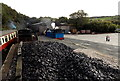 SD3484 : Heap of coal at Haverthwaite railway station by Jaggery