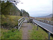 NN2256 : West Highland Way at Altnafeadh by Dave Kelly