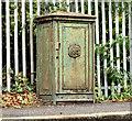 J3875 : Old relay box, Belfast - October 2014(1) by Albert Bridge
