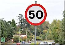 J3876 : Speed limit sign, Belfast (October 2014) by Albert Bridge