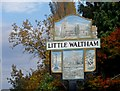 TL7012 : Village Sign, Little Waltham by Bikeboy