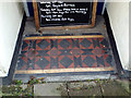 SX9372 : Tiled floor to house doorway, Northumberland Place, Teignmouth by Robin Stott