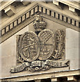 J3474 : Arms and portico, the Custom House, Belfast (October 2014) by Albert Bridge