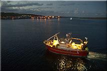 HU4642 : LK207 Ocean Way approaching the quay at Holmsgarth, Lerwick by Mike Pennington