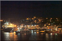 HU4741 : Victoria pier, Lerwick harbour at night by Mike Pennington