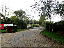 TM0663 : Entrance to Ash Tree Farm by Adrian Cable