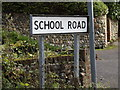 TM0662 : School Road sign by Adrian Cable