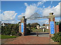 TQ1302 : Gates to Marine Gardens. Worthing by Paul Gillett