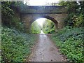 SE3849 : Bridge over former railway track to Spofforth by Steve  Fareham