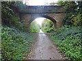 SE3849 : Bridge over former railway track to Spofforth by Steve  Fareham