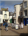 SX9472 : Fish and chips alfresco – south end of Lower Brook Street, Teignmouth by Robin Stott