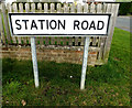 TM0562 : Roadsign on Station Road by Adrian Cable