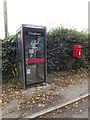 TM0960 : Telephone Box & Blacksmiths Lane Postbox by Adrian Cable
