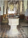 SU8985 : Cookham - Holy Trinity Font by Colin Smith