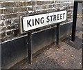 TQ7468 : Vintage street nameplate, King Street, Rochester by Chris Whippet
