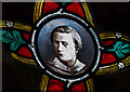SK8039 : Detail, Stained glass window, St Mary's church, Bottesford by J.Hannan-Briggs