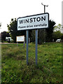 TM1860 : Winston Village Name sign by Adrian Cable